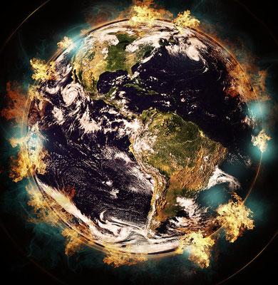 Quant à la terre et aux cieux actuels, ils sont réservés pour être livrés au feu: ils sont gardés en vue du jour du jugement où tous ceux qui n'ont aucun respect pour Dieu périront. Mais nous attendons, un nouveau ciel et une nouvelle Terre.