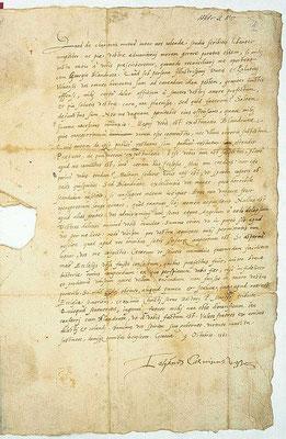 Le 18 mai 1558, lorsque Calvin demande à tous les Italiens exilés à Genève de signer un acte de foi trinitaire. Le document est contesté par Giovanni Valentino Gentile, Alciati della Motta et Biandrata, qui refusent de le signer.