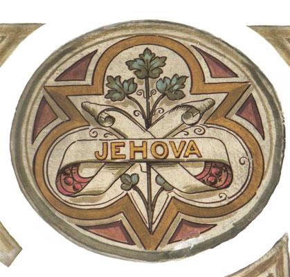 Le Nom personnel de Dieu Jéhovah écrit à l'église  Chiesa dell'ospedale en Italie