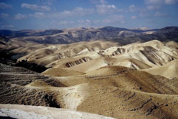 Le désert de Judée où ont été retrouvés les manuscrits de la mer Morte- Jéricho, Qumrân, Murabba'at, En-Gedi, Nahal Hever, Massada.
