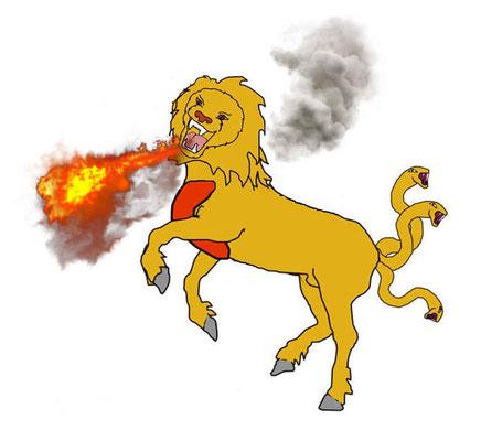Au chapitre 9 de l'Apocalypse, le tiers des hommes ont été tués par 3 fléaux, le feu, le soufre et la fumée sortant de la bouche des 200 millions de chevaux. Ces chevaux ont été libérés par les 4 anges enchaînés près de l'Euphrate. Après la 6ème trompette