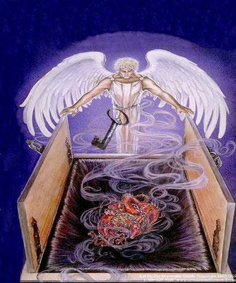 Cette étoile à qui l'on donne la clé du puits de l'abîme est un ange de Dieu tout comme l'ange qui enchaîne Satan dans l'abîme. L'abîme n'est pas un lieu réel mais un état d'abaissement spirituel dans les ténèbres profondes.