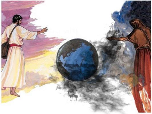 Jésus a semé le bon grain au sein d'un monde plongé dans les ténèbres spirituelles. Les sujets du futur gouvernement céleste ou Royaume de Dieu. Ils ont résisté à l'influence de Satan et ont choisi de se soumettre au règne messianique.