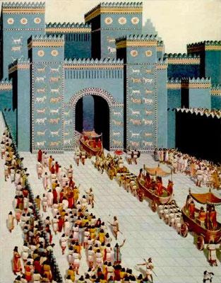 La chute de l'antique Babylone, en 539 av J-C, a été prophétisée par Dieu 70 ans plus tôt. Dans la prophétie d'Esaïe nous retrouvons la même expression qu'en Apocalypse 14 :8: « Elle est tombée, elle est tombée Babylone ! »