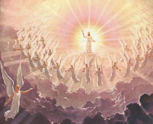 L'accouchement correspond à une mise au monde, une naissance. De cette grande organisation céleste fidèle au Tout-Puissant composée en grande partie d'anges, est issu quelqu'un de spécial: Jésus-Christ, le Fils premier-né du Dieu Tout-Puissant.