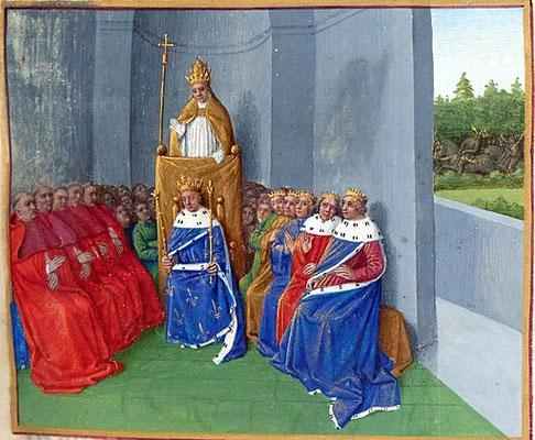 8 grandes croisades ont été organisées afin de délivrer le tombeau du Christ des Musulmans. La première croisade (1095-1099) est lancée à l'appel du pape Urbain II et débouche sur la prise de Jérusalem et la création des Etats chrétiens d'orient.