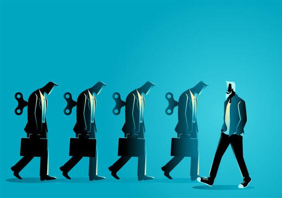 Il faut du courage pour être différent des autres qui suivent le mouvement de la majorité, il faut de la détermination pour rester fidèles à nos convictions malgré les pressions, les menaces, le chantage, la perte de droits ou d'avantages.