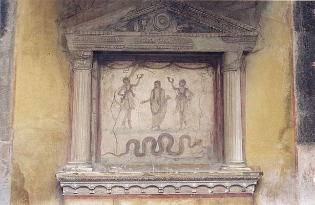 autel domestique culte du lare et des pénates