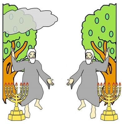 La terre (la société humaine stable) viendra au secours de la femme dont les représentants sur la terre subissent les attaques de Satan. Les 2 Témoins reviennent à la vie à la fin de la Grande Tribulation.
