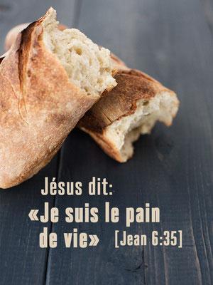 Jésus-Christ est l'Agneau de Dieu offert en sacrifice pour réconcilier les hommes avec le Maître de l'univers et ôter les péchés du monde entier. Jésus est le pain de la vie, le pain vivant descendu du ciel.