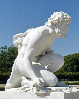 Hadès est le frère aîné de Zeus et de Poséidon. Tandis que Zeus gouverne le ciel, Poséidon la mer, Hadès règne dans le monde souterrain, il est le « maitre des Enfers ». Il est marié à Perséphone. Il est l'équivalent du Pluton romain.