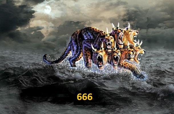 Les bêtes à 7 têtes et 10 cornes d'Apocalypse 13 et 17 qui incarnent les puissances et organisations politiques de ce monde sont sous le contrôle de Satan le diable, le dragon couleur rouge feu, le chef de ce monde.