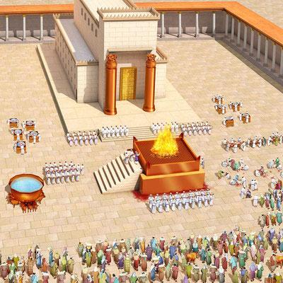 Pour la construction du Temple de Jérusalem, Salomon fait appel à Hiram. le fils d'une veuve de la tribu de Nephthali et d'un père tyrien. Il travaillait le bronze. Hiram était rempli de sagesse, d'intelligence et de savoir-faire pour travailler le bronze