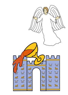 """« Un autre, un deuxième ange, le suivit en disant: «Elle est tombée, [elle est tombée,] Babylone la grande, elle qui a fait boire à toutes les nations le vin de la fureur de sa prostitution"""". Apocalypse 14"""