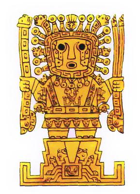 Viracocha est le dieu créateur suprême de l'univers et de tout être vivant. Inti, Viracocha et Illapa forment la triade de divinités la plus importante chez les Incas.