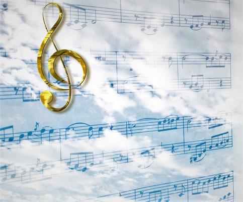 Les 24 anciens qui symbolisent les 144'000 cohéritiers de Jésus-Christ tiennent également des harpes.
