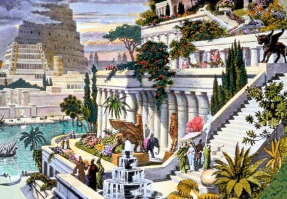 L'antique ville de Babylone, « joyau des royaumes, la cité splendide qui faisait la fierté des Chaldéens », selon la Bible en Esaïe 13 :19.  Sa chute avait été prophétisée par les prophètes Jérémie et Esaïe. Les faux dieux et les devins ont été humiliés.