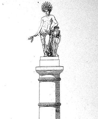 """En 328, Constantin 1er érige une colonne à Constantinople (Istanbul) pour commémorer la fondation de la """"Nouvelle Rome"""": Constantinople. Sur la colonne se trouvait à l'origine une statue de Constantin représenté comme le dieu Soleil Sol Invictus."""