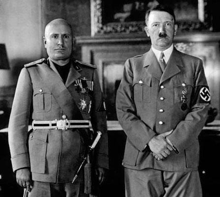 A partir de 1929, qui marque le début d'une grave crise économique mondiale, on assiste à la montée au pouvoir de régimes fascistes et totalitaires, comme Mussolini en Italie (agression de l'Ethiopie en 1936), Franco en Espagne, Salazar au Portugal.