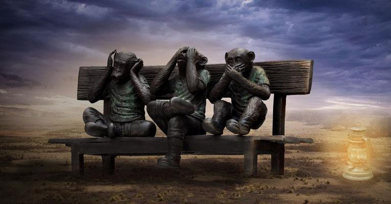 Les sauterelles préviennent les hommes de l'intervention prochaine du Tout-Puissant. Cela cause de terribles tourments à tous ceux qui refusent de se soumettre à Dieu et préfèrent ne rien voir, ne rien entendre et ne rien savoir.