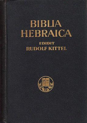 BHK Biblia Hebraica Kittel éditée en 1937 faite à partir du codex de Leningrad