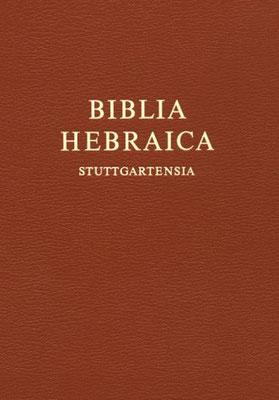 BHS Biblia Hebraica Stuttgartensia éditée en 1977 faite à partir du codex de Leningrad