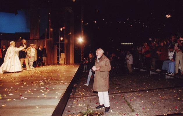 Joachim Tettenborn bei der letzten Vorstellung von 'Klaas Störtebeker'