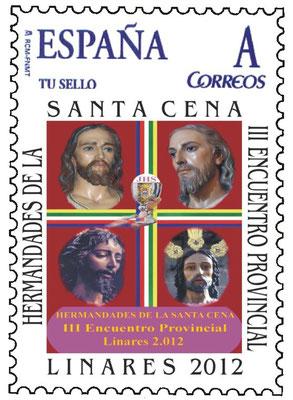 Sello conmemorativo del encuentro celebrado en linares de hdad. Sacramentales de Jaén 2012