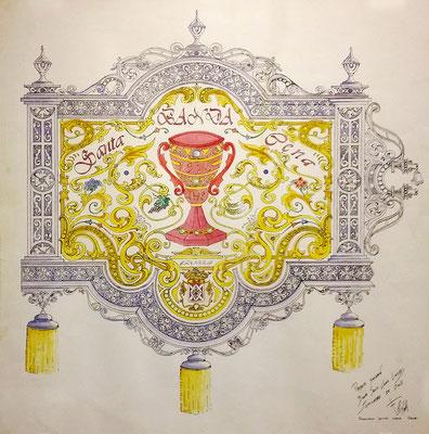 Diseño original banderin banda de Cabecera