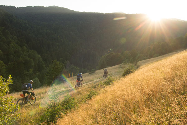 Racing downhill into Monternegro