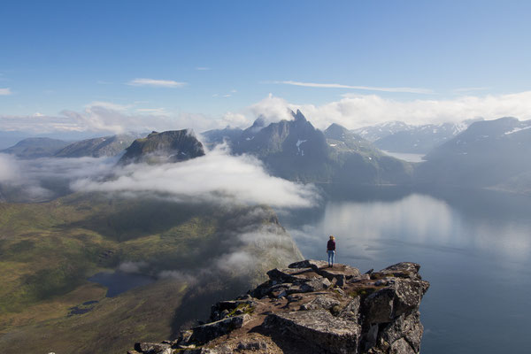 Summit views from Segla, across Senja island in northern Norway.