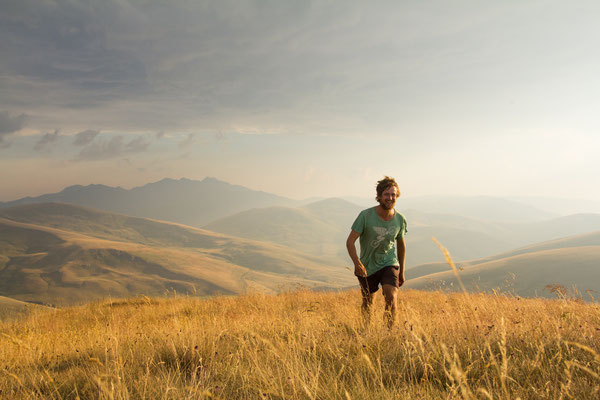 Appreciating the views in the Šar mountains of southern Kosovo