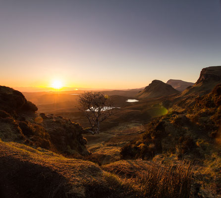 Sunrise over Quiraing on the Isle of Skye.