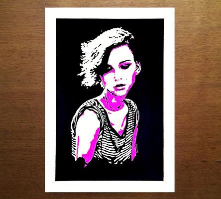 #rachelcook #acrylic #acrilico #black #pink