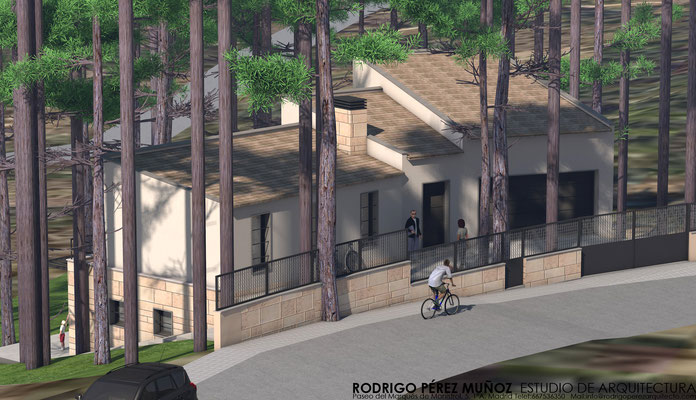 Proyecto de vivienda en Cadalso de los Vidrios. Rodrigo Perez Muñoz, Arquitecto.