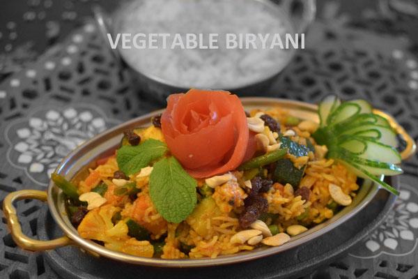 Vegetable Biryani or Vegan