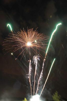 La soirée feux d'artifice