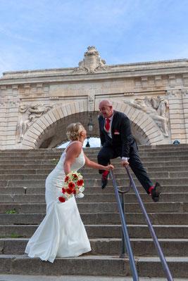 Couple de mariés Paris