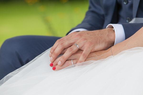 Mains des mariés