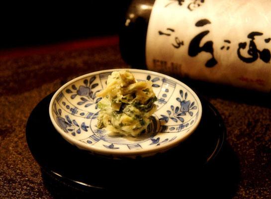 春の食材と山葵菜の酒肴
