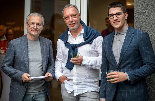 IC-Spartenobmann-Stv. Robert Rothschädl, Cimo-GF Josef Ogrizek, Gabriel Platzer