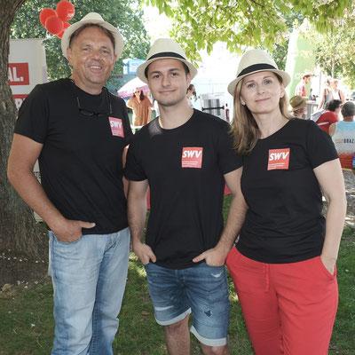 T-Shirt-Aktion des SWV Steiermark beim Augartenfest der SPÖ Graz.