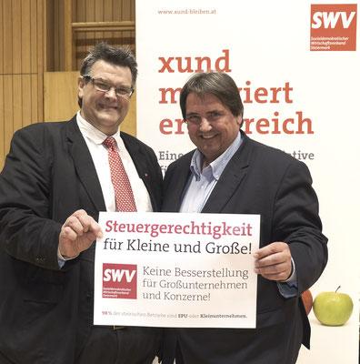 SWV-Präsident Karlheinz Winkler, SPÖ-Regionalvorsitzender NAbg. Josef Muchitsch
