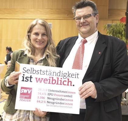 SPÖ-Frauen-Vorsitzende Bundesrätin Elisabeth Grossmann, SWV-Präsident Karlheinz Winkler