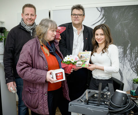 Michael Dornbusch, Ingeborg Windhofer, Karlheinz Winkler, Bianca Simona Billi (Friseurstudio Cool Hair)