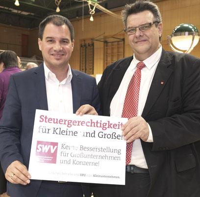 SPÖ-Steiermark-Vorsitzender LH-Stv. Michael Schickhofer, SWV-Präsident Karlheinz Winkler