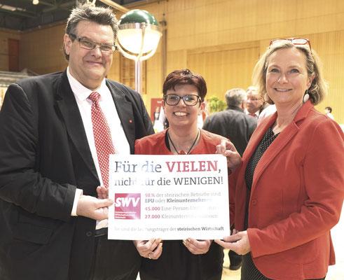 SWV-Präsident Karlheinz Winkler, LAbg. Bernadette Kerschler, EU-Spitzenkandidatin LT-Präsidentin Bettina Vollath