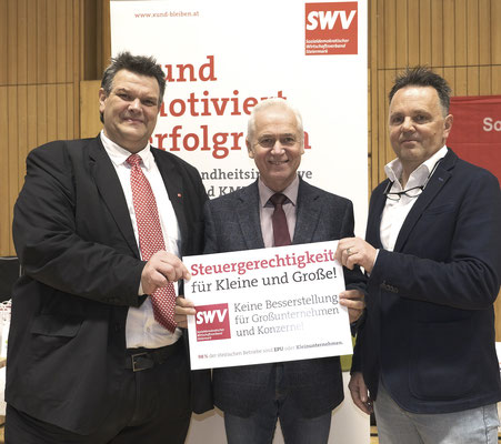 SWV-Präsident Karlheinz Winkler, Bürgermeister von Leibnitz Helmut Leitenberger, SWV-Geschäftsführer Ernst Lenz