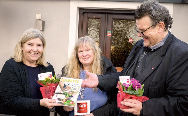Andrea Jäger (Weinstube Jäger), Ingeborg Windhofer, Karlheinz Winkler