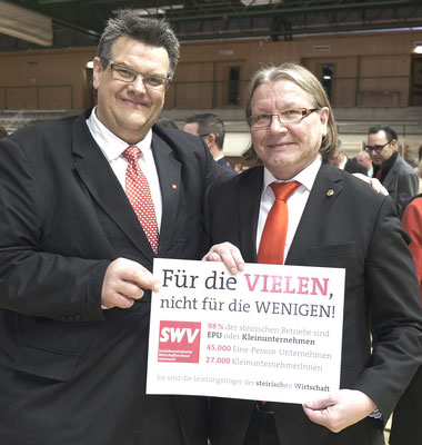 SWV-Präsident Karlheinz Winkler, Bundesrat Hubert Koller